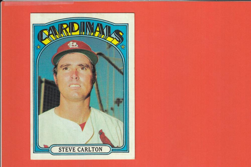 Louis Cardinals Baseball Card #420 Steve Carlton EX-MT 1972 Topps St