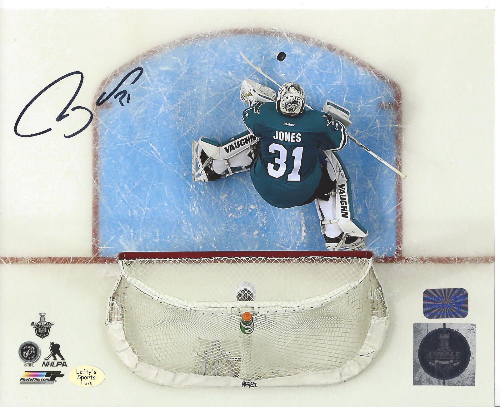 buy online 2838a 02cea Details about Martin Jones San Jose Sharks autographed 8x10 Photo (In-store  Signing 10/28/16)